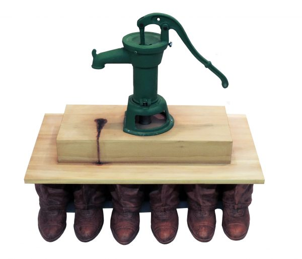 2014 28x32x25 pump terra cotta wood motor audio paint