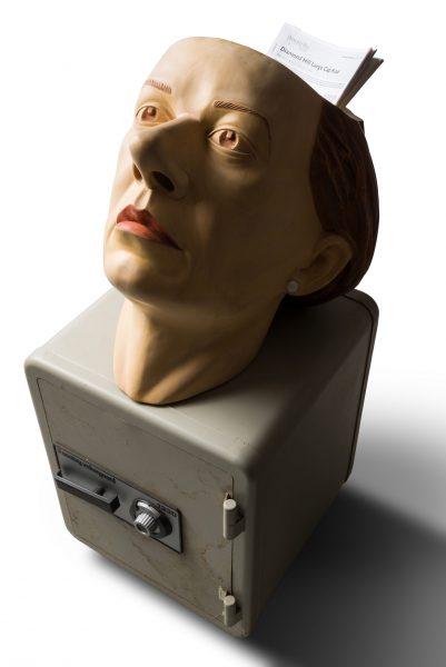 2012 39h x 17x 17 wood tempera wax steel safe