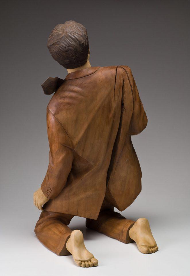 2008 41x23x23 wood tempera
